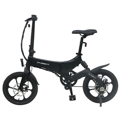 ONEBOT S6 Portable Folding Electric Bike 250W Motor Max 25km_h 6.4Ah Battery  Black