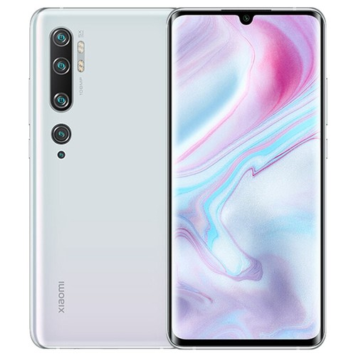 Xiaomi Mi Note 10 6.47 Inch 4G LTE Smartphone Snapdragon 730 6GB 128GB 108.0MP + 12.0M + 20.0MP + 5.0MP + 2.0MP Penta Rear Cameras NFC Fingerprint ID Dual SIM MIUI 11 Global Version - White