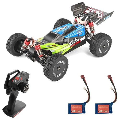 Wltoys 144001 1/14 2.4G 4WD 60km/h Electric Brushed Off-Road Buggy RC Car RTR Two Batteries - Green