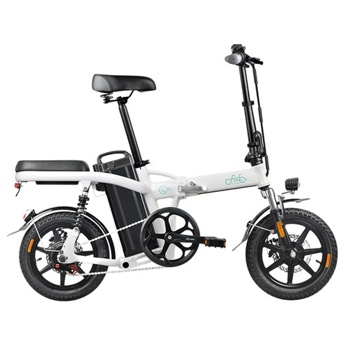 FIIDO L2 Folding Electric Moped Bike City Bike Commuter Bike Max 25km_h Three Riding Modes 20Ah Lithium Battery 14 Inch Tire  White