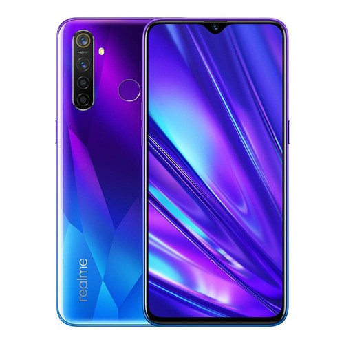 Realme 5 Pro 4G LTE Smartphone 6.3 Inch FHD+ Dew-drop Screen Snapdragon 712AIE 8GB RAM 128GB ROM 48MP AI Quad Rear Cameras 4035mAh Large Battery Fingerprint ID Android P Global Version - Crystal Blue