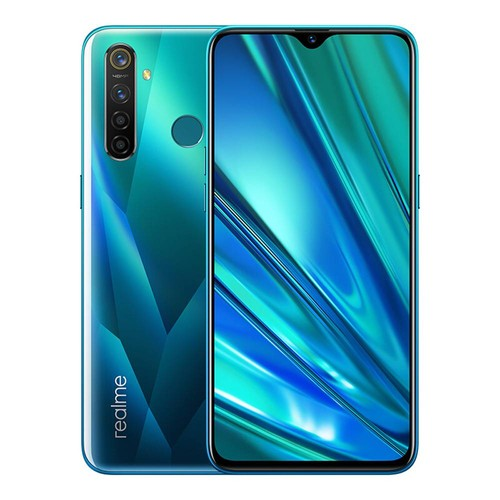 Realme 5 Pro 4G LTE Smartphone 6.3 Inch FHD+ Dew-drop Screen Snapdragon 712AIE 8GB RAM 128GB ROM 48MP AI Quad Rear Cameras 4035mAh Large Battery Fingerprint ID Android P Global Version - Crystal Green