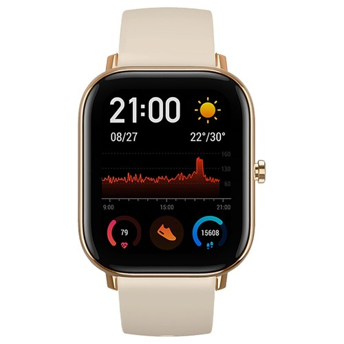 AMAZFIT GTS Smartwatch 1.65 Inch Retina Display 5ATM Water Resistant GPS Global Version - Gloden