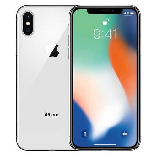 """Apple iPhone X 64GB Unlocked Silver 5.8"""" Retina Display, Face ID - Used (Item Condition - 99% New)"""