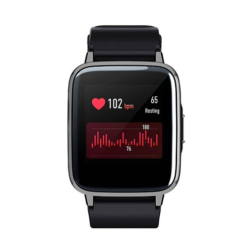Haylou LS01 Smartwatch 1.3 Inch TFT Touch Screen IP68 Waterproof Heart Rate Sleep Monitor Global Version  Black