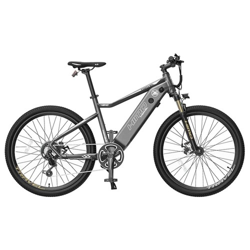 HIMO C26 Electric Bicycle 26 Inch 250W Motor Removable 48V 10Ah Battery Up To 100km Range Dual Disc Brake SHIMANO 7s Gear Shift System Aluminum Alloy Frame Adjustable Heights - Gray