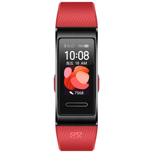 Huawei Band 4 Pro Smart Bracelet 0.95 Inch AMOLED Screen 5ATM Waterproof Built-in GPS Heart Rate Sleep Monitor - Red