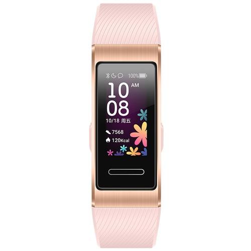Huawei Band 4 Pro Smart Bracelet 0.95 Inch AMOLED Screen 5ATM Waterproof Built-in GPS Heart Rate Sleep Monitor - Pink