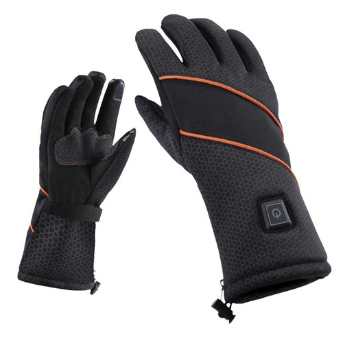 PMA X20 Motorcycle Gloves 1900mAh Battery Powered Waterproof Smart Heated Touch Screen - Black