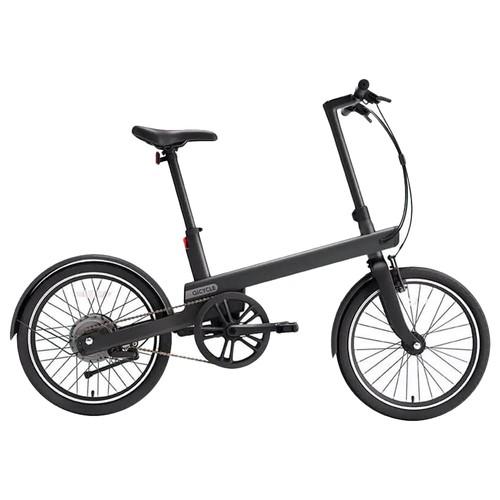 QiCYCLE TDP02Z Electric Bike 20 Inch Tires 180W Motor Up To 40km Range Integrated Handlebar Light-Sensitive Display - Black