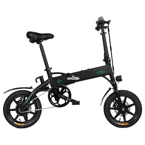 FIIDO D1 Folding Electric Moped Bike Three Riding Modes 14 Inch Tires 250W Motor 25km/h 7.8Ah Lithium Battery 25-40KM Range - Black