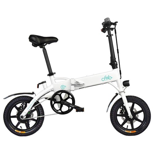 FIIDO D1 Folding Electric Moped Bike Three Riding Modes 14 Inch Tires 250W Motor 25km/h 7.8Ah Lithium Battery 25-40KM Range - White