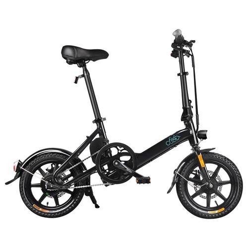 FIIDO D3 Folding Electric Moped Bike City Bike Commuter Bike Three Riding Modes 14 Inch Tires 250W Motor 25km_h 7.8Ah Lithium Battery 25_40KM Range  Black