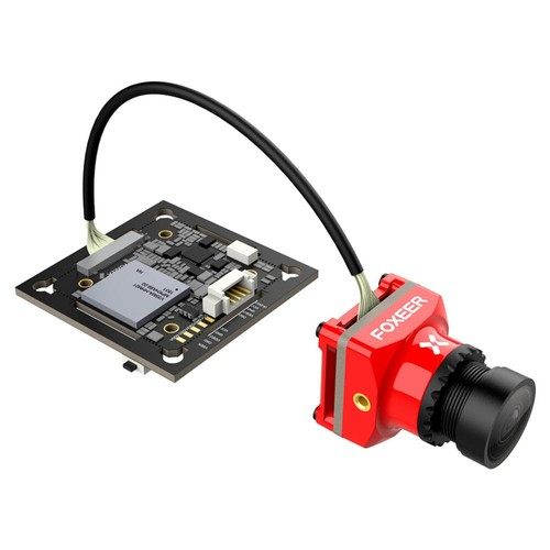 Foxeer MIX 1080P 60FPS OSD Wide Voltage DC 5-24V HD FPV Camera 16:9 4:3 N/P Switchable - Red