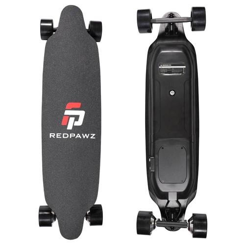 REDPAWZ RDZ_07 Electric Skateboard 300W x2 Dual Motors 6600mAh Battery Max Speed 40km_h With Remote Control  Black