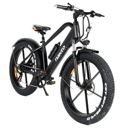 NAKTO GYL019 Direwolf Electric Bicycle 500W Motor 26*4.0 Wide Tires Max Speed 25km/h Dual Disc Brake LCD Meter