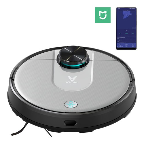 Xiaomi VIOMI V2 Pro Robot Vacuum Cleaner 2 in 1 Sweeping Mopping 2100Pa LDS Laser Navigation Intelligent Electric Control Tank EU Plug - Gray
