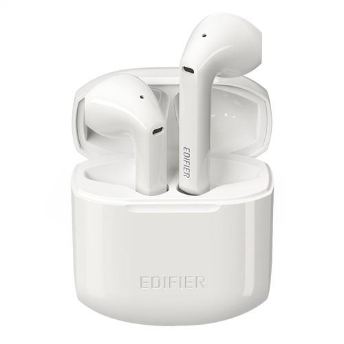 EDIFIER TWS200 Bluetooth 5.0 Earphones CVC8.0 Qualcomm QCC3020 with LDS Antenna aptX/AAC/SBC Google Assistant Siri 24Hours Playback Time - White