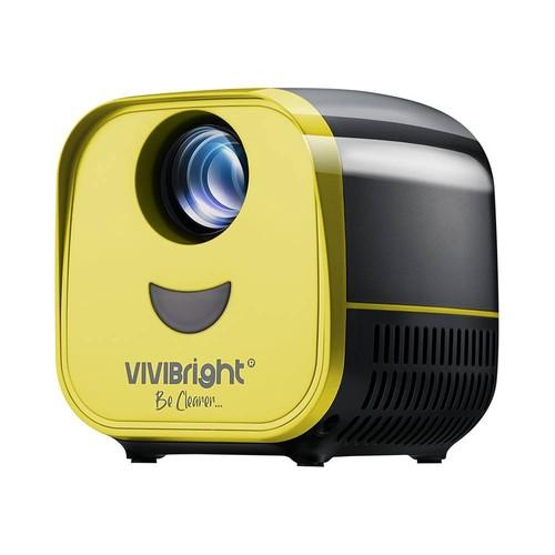 """VIVIBRIGHT L1 2200LM 480P Projetor LED 120 """"Tamanho da imagem 8000: 1 Alto-falante estéreo com proporção de contraste HDMI - Preto"""