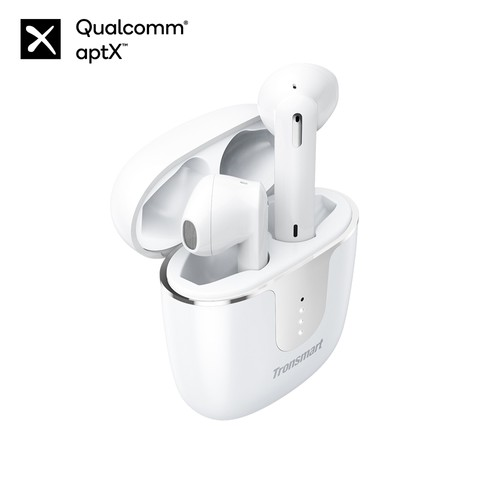 Tronsmart Onyx Ace Bluetooth 5.0 Fones de ouvido TWS 4 microfones Qualcomm QCC3020 Uso independente aptX / AAC / SBC Playtime Siri 24H Siri Google Assistant IPX5 do Google - branco