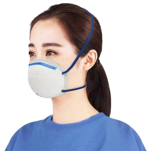 20PCS Disposable FFP2 KN95 Face Mask Dust Mask Non Valve Respirator With CE Approved For Flu Protection PM 2.5 Anti-Virus Pollution Allergy Haze - White