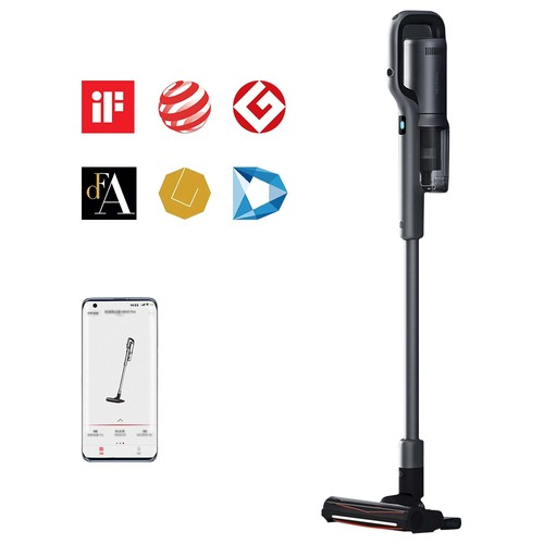 ROIDMI NEX 2 Pro Portable Smart Handheld Cordless Vacuum Cleaner  26500Pa Strong Suction 435W Motor 2500mAh Battery APP Control OLED Display From Xiaomi Youpin  Grey