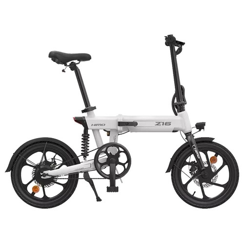 HIMO Z16 Folding Electric Bicycle 250W Motor Up To 80km Range Max Speed 25km_h Removable Battery IPX7 Waterproof Smart Display Dual Disc Brake CN Version  White