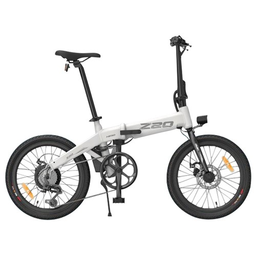 HIMO Z20 Folding Electric Bicycle 20 Inch Tire 250W DC Motor Up To 80km Range  Removable Battery Shimano 6_speed Transmission Smart Display Dual Disc Brake Europe Version  White