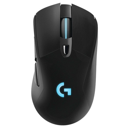 Logitech G703 LIGHTSPEED Wireless Gaming Mouse 16000DPI Hero 16K Sensor Powerplay Wireless Charging RGB Light  Black
