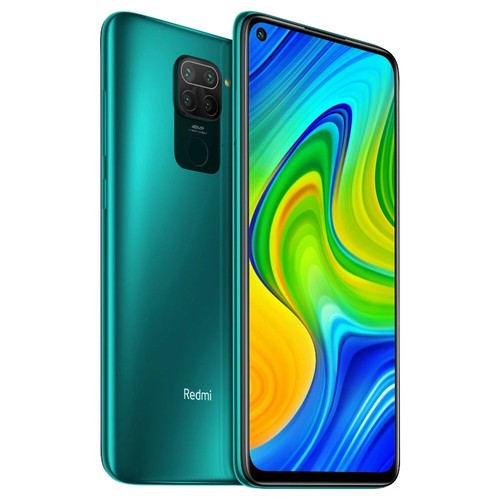 "Xiaomi Redmi Note 9 Global Version 6.53"" DotDisplay 4G LTE Smartphone MTK Helio G85 3GB RAM 64GB ROM Android 10.0 Quad Rear Camera 5020mAh Battery NFC 18W Fast Charging Dual SIM Dual Standby - Forest Green"