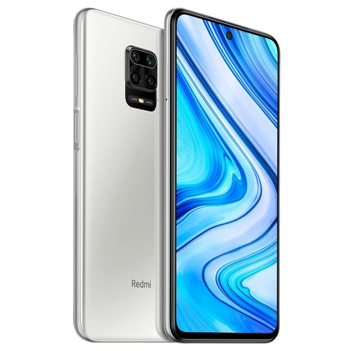 "Xiaomi Redmi Note 9 Pro Global Version 6.67"" DotDisplay 4G LTE Smartphone Qualcomm Snapdragon 720G 6GB RAM 128GB ROM Android 10.0 Quad Rear Camera 5020mAh Battery NFC 30W Fast Charging Dual SIM Dual Standby - Glacier White"