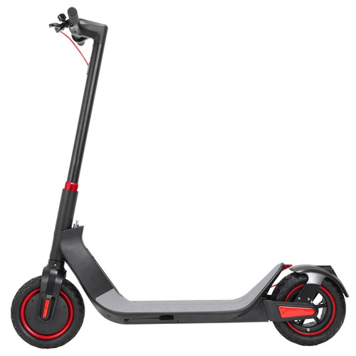 KUGOO G_Max Electric Scooter 10 Inch Pneumatic Tire 500W Brushless Motor Max Speed 35km_h  Up To 32km Rang 10.4AH Battery  Black