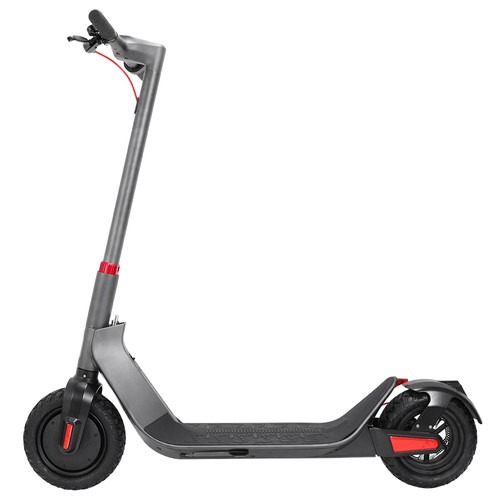 KUGOO G-Max Folding Electric Scooter 10 Inch Pneumatic Tire 500W Brushless Motor 35km/h Max Speed Up To 32km Range 36V 10.4AH Battery - Gray