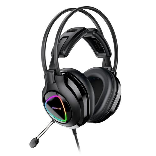 Tronsmart Glary Alpha színes LED-es fejhallgató 3.5 mm-es megvilágítással + USB port