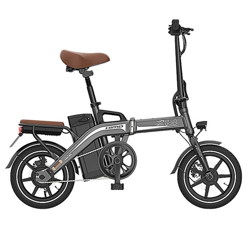 HIMO Z14 Folding Electric Bicycle 350W Brushless Motor Three Modes Maximum Speed 25km_h Up To 80km Range 12AH Lithium Battery Maximum Load 100kg Hidden Inflator Standard Edition  Gray