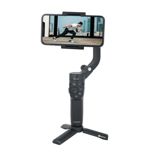 FeiyuTech VLOG Pocket 2 Foldable 3-Axis Handheld Gimbal Stabilizer Joystick Zoom for Smartphone - Black