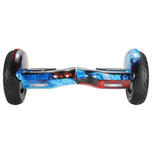 Imina 10 inch Self Balancing Scooter Hoverboard with Bluetooth Speaker and StripLight  Red Blue