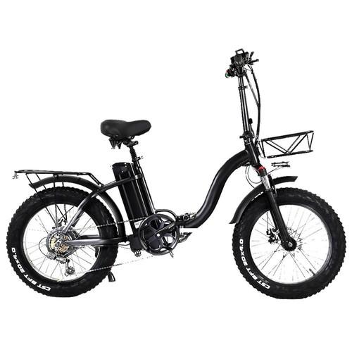CMACEWHEEL Y20 Electric Moped Bike 20 x 4.0 Fat Tires Five Speeds 750W Motor 15AH Battery Smart Display - Black