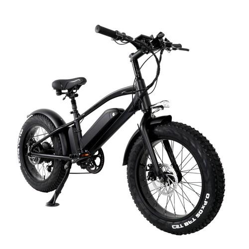 CMACEWHEEL T20 Moped Electric Bike Five Speeds 750W Motor 10Ah Smart BMS Max Speed 45km/h Smart Display Disk Brake 20 x 4.0 Fat Tires - Black