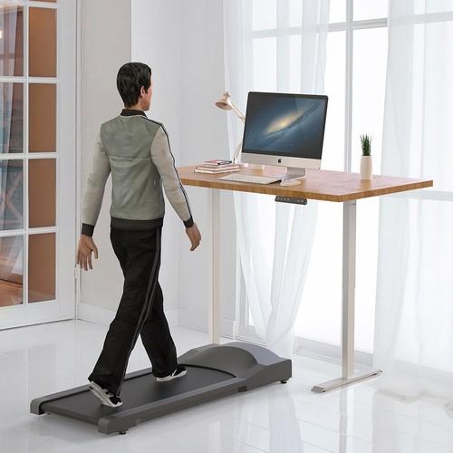 ACGAM Electric Standing Desk Frame Workstation, Ergonomic Height Adjustable Desk Base White (Frame Only)