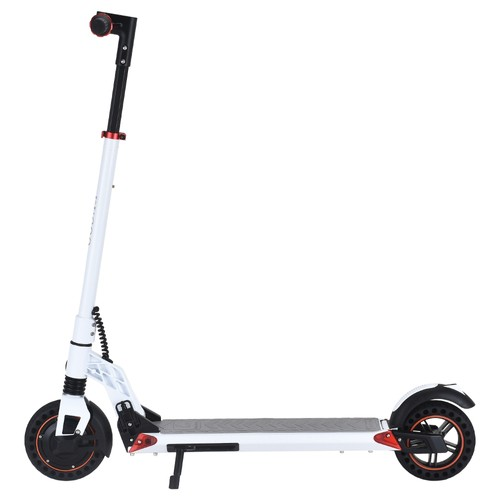 2020 NEW  KUGOO S1 Plus 8 inch Folding Electric Scooter 350W Motor 7.5Ah Clear LCD Display Screen Max 30km_h 3 Speed Modes Max Range up to 25km Easy Folding  White