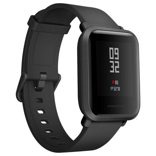 Xiaomi Huami Amazfit Bip Smartwatch con monitoraggio della frequenza cardiaca per tutto il giorno e attività, monitoraggio del sonno, GPS, durata della batteria ultra lunga di 45 giorni, Bluetooth, impermeabile IP68, condizioni eccellenti usate 99% nuovo (nero)