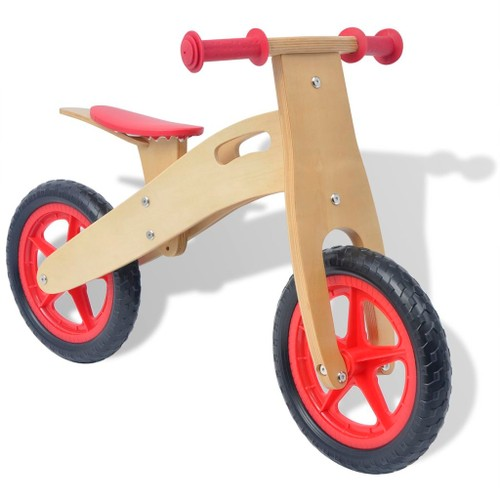 Balance Bike Wood Red