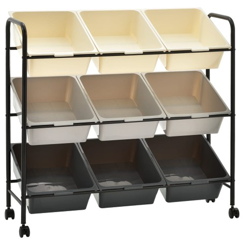 9_Basket Toy Storage Trolley Ombre Plastic