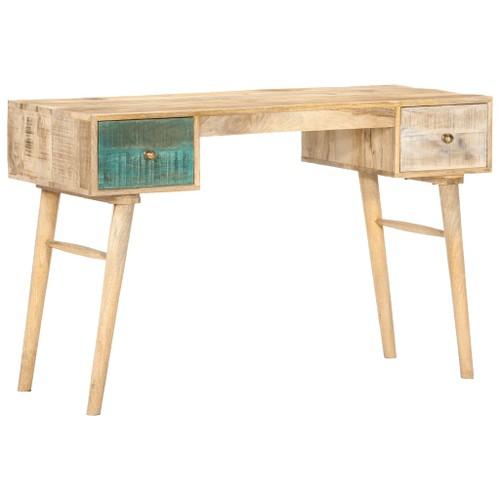 Desk 118x50x75 Cm Solid Mango Wood, Mango Wood Desk