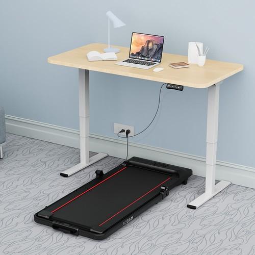 ACGAM ET225E Electric Dual-motor Three-stage Legs Standing Desk Frame Workstation, Ergonomic Height Adjustable Desk Base - White (Frame Only)
