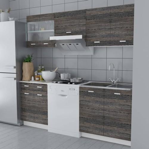 Kitchen Cabinet Unit 5 Pieces Wenge Look