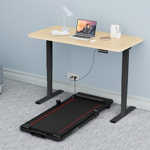 ACGAM ET225E Electric Dual_motor Three_stage Legs Standing Desk Frame Workstation, Ergonomic Height Adjustable Desk Base Gaming Desk  Black  Frame Only