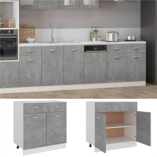Kitchen Cabinet Concrete Grey 80x46x81, Cement Grey Kitchen Cabinets