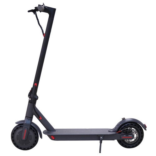L85 Electric Folding Scooter 8.5 Inch tire 7.5Ah Battery 350W Motor Max Speed 25km_h Rear Disk brake max 28km range  Aluminum alloy body Smart BMS 3 Speed Modes APP  Black